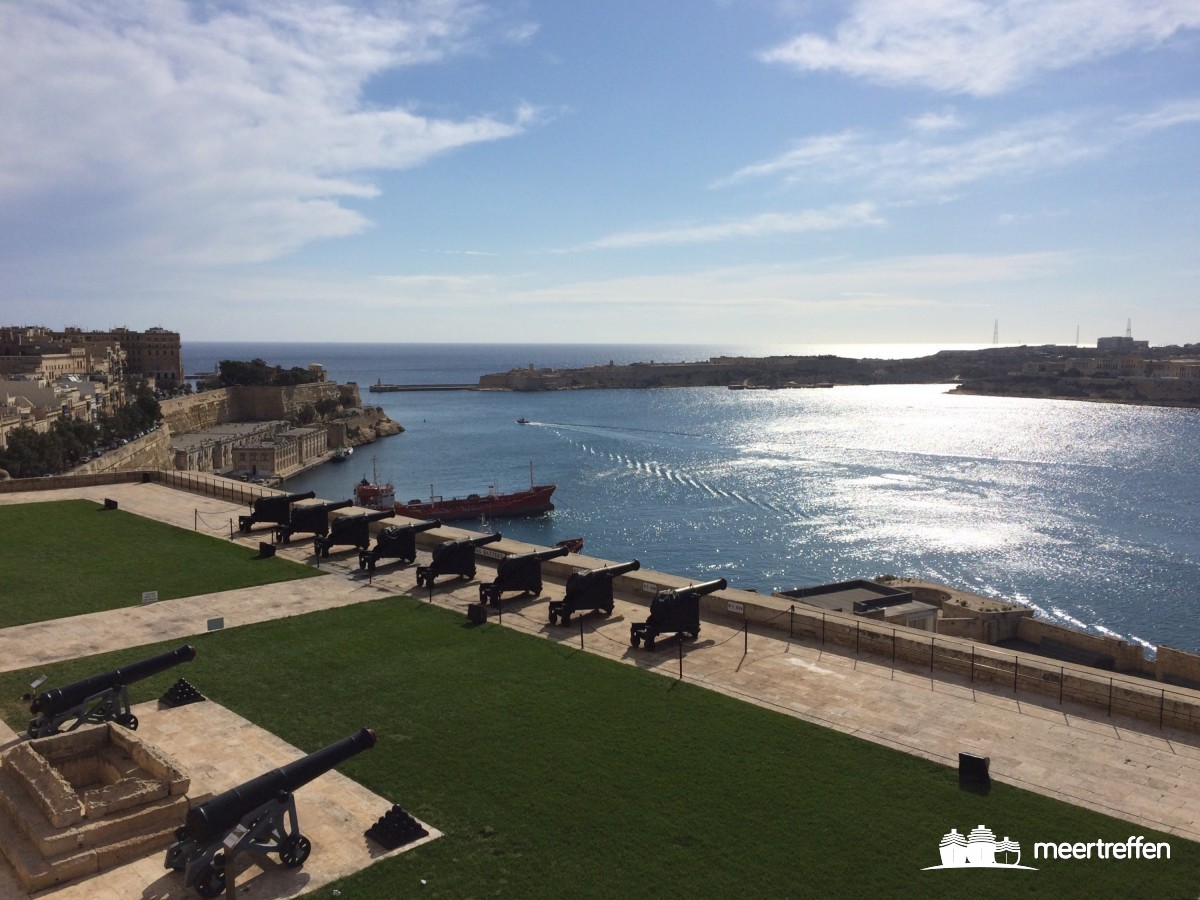"Die Salutkanonen ""Saluting Battery"" in Valetta (Malta)"
