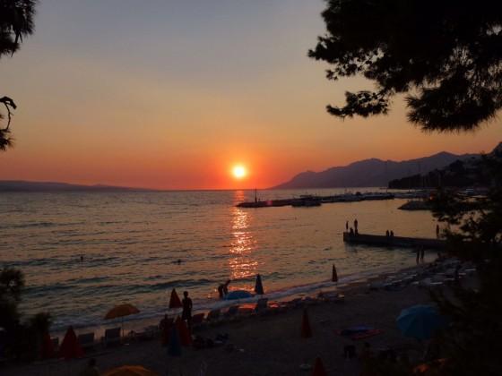 Sonnenuntergang an der kroatischen Küste