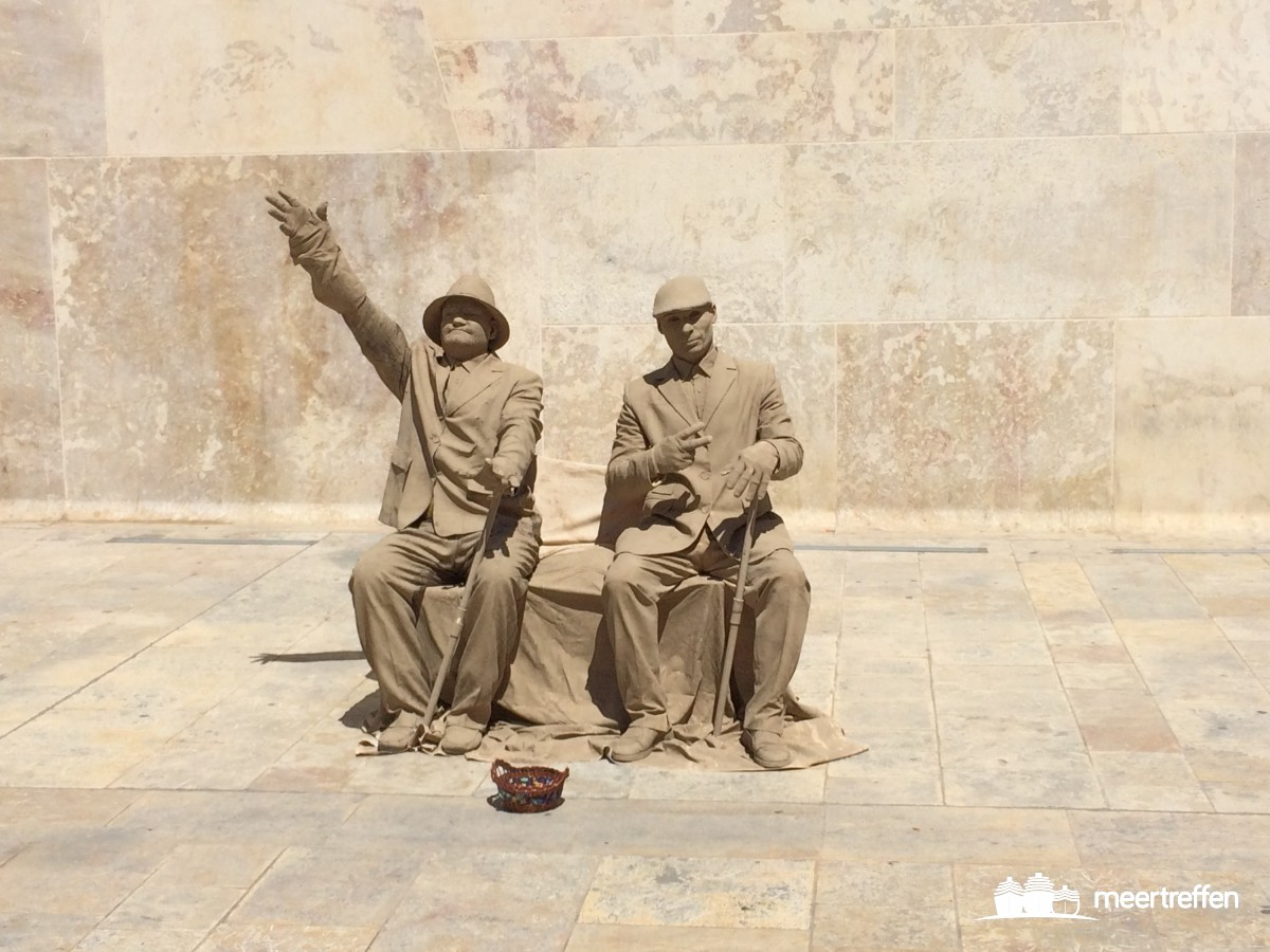 Straßenkünstler in Valletta (Malta)